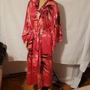 Natori NWT Dahlia Satin Kimono Robe Sz S